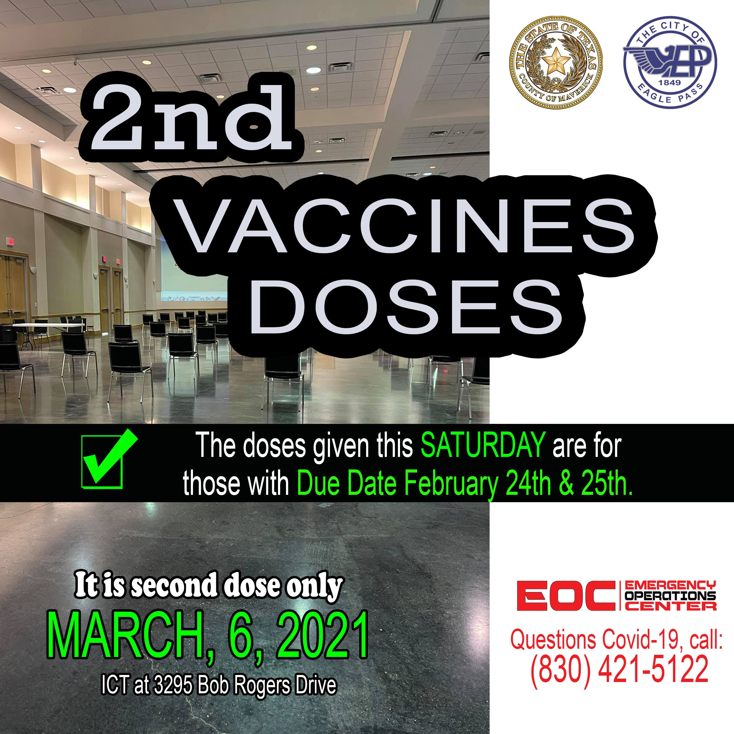 vaccines 2nd doses MARCH 6 1.0